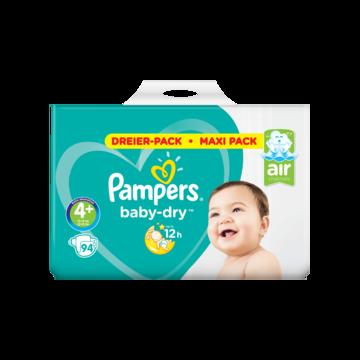 Pampers Baby-Dry Maat 4+, 94 Luiers, Droge Ademende Huid