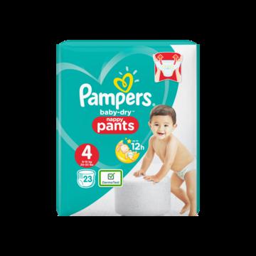 Pampers Baby-Dry Pants S4, 23 Luierbroekjes, Luchtdoorlatende Banen