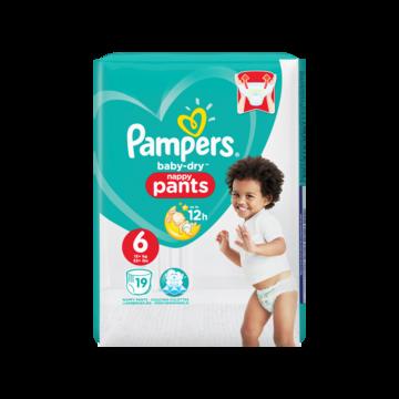 Pampers Baby-Dry Pants S6, 19 Luierbroekjes, Luchtdoorlatende Banen